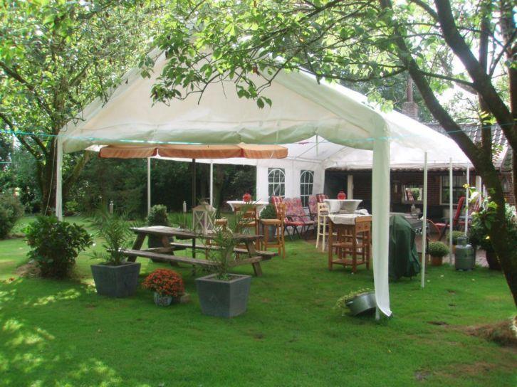 Tent voor tuin halve parasol - Tent voor terras ...
